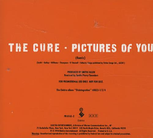 Cure - Pictures Of You - Orange Cd