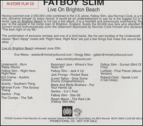 Fatboy Slim - Live On Brighton Beach Album