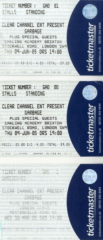 Concert Ticket Stubs