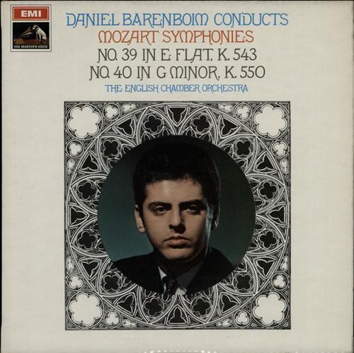 Barenboim, Daniel - Mozart Symphonies Nos. 39 & 40 - Stamp Label