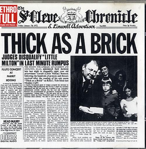 Jethro Tull - Thick As A Brick Single