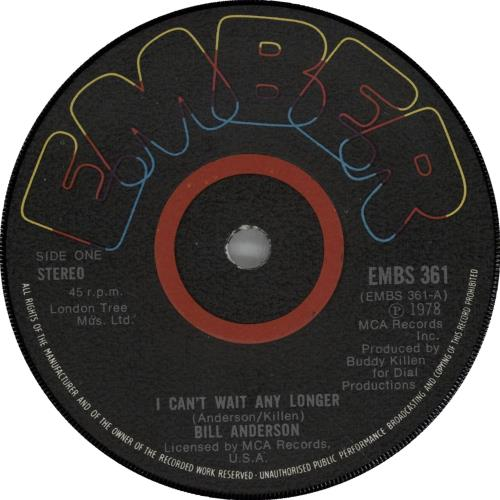 Anderson, Bill - I Can't Wait Any Longer