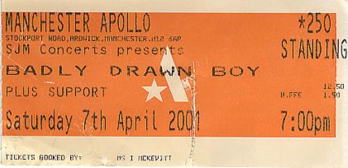 BADLY DRAWN BOY - Manchester Apollo - Autres