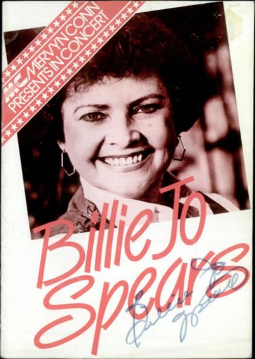 SPEARS, BILLIE JO - 1983 Tour Programme - Autographed - Autres