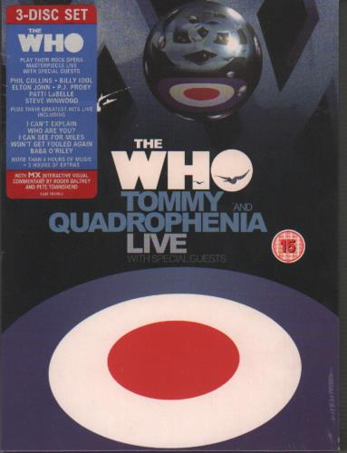 WHO - Quadrophenia And Tommy Live - Sealed - DVD