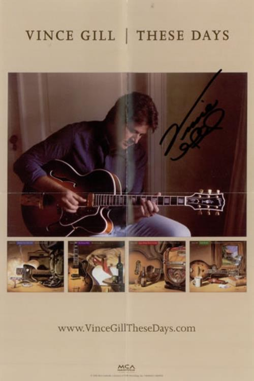GILL, VINCE - These Days - Autographed - Autres