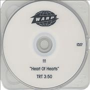 !!! Heart Of Hearts USA promo DVD-R Promo