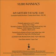 Click here for more info about 'My Mother The War'