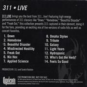 Click here for more info about '311 - Live'
