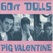 Click here for more info about '60ft Dolls - Pig Valentine - Black Vinyl Mis-press'