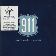 Click here for more info about '911 - Don't Make Me Wait'