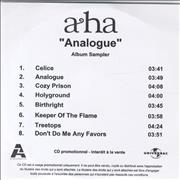 Click here for more info about 'A-Ha - Analogue - Album Sampler'