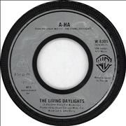 Click here for more info about 'A-Ha - The Living Daylights - Silver Inj Wide Centre'