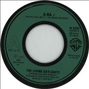 Click here for more info about 'A-Ha - The Living Daylights - Green Wide Centre'