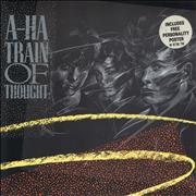 Click here for more info about 'A-Ha - Train Of Thought + Poster - EX'