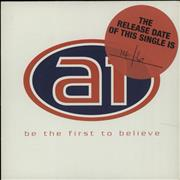 Click here for more info about 'A1 - Be The First To Believe'