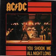 Click here for more info about 'AC/DC - You Shook Me All Night Long + Sleeve'