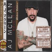 Click here for more info about 'AJ Mclean - Have It All - Deluxe Edition'