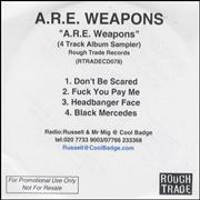 Click here for more info about 'A.R.E. Weapons - A.R.E. Weapons - 4 Track Album Sampler'