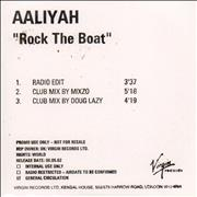 Click here for more info about 'Aaliyah - Rock The Boat'