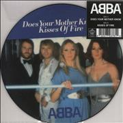 """Abba Does Your Mother Know / Kisses Of Fire UK 7"""" picture disc"""