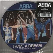 """Abba I Have A Dream / Take A Chance On Me UK 7"""" picture disc"""