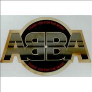 Abba Thank You For The Music - tea-stained UK shaped picture disc