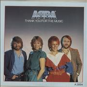 """Abba Thank You For The Music UK 7"""" vinyl"""