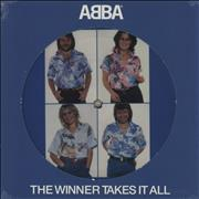 """Abba The Winner Takes It All - Opened UK 7"""" picture disc"""