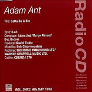 Click here for more info about 'Adam Ant - Gotta Be A Sin'