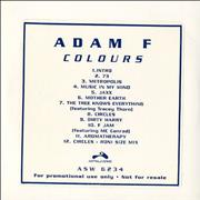 Click here for more info about 'Adam F - Colours'