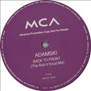 Click here for more info about 'Adamski - Back To Front'