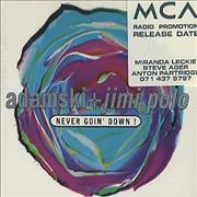 Click here for more info about 'Never Goin' Down'