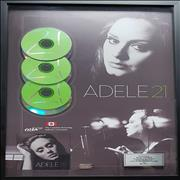 Adele 21 - Triple Platinum Canada award disc
