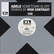 "Adele Hometown Glory (High Contrast Remixes) UK 12"" vinyl"