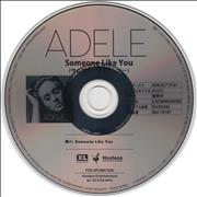 Adele Someone Like You Japan CD single Promo