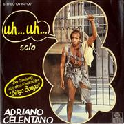 """Adriano Celentano Uh... Uh... Germany 7"""" vinyl"""