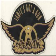 Aerosmith Janie's Got A Gun UK shaped picture disc