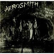 Aerosmith Night In The Ruts + Insert UK vinyl LP