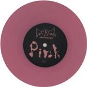 """Aerosmith Pink - Pink Vinyl UK 7"""" vinyl"""