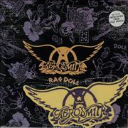 "Aerosmith Rag Doll + Patch UK 12"" vinyl"