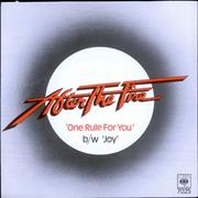 Click here for more info about 'After The Fire - One Rule For You - A-1 Matrix'