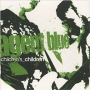 """Agent Blue Children's Children - Green Vinyl UK 7"""" vinyl"""