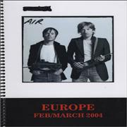 Click here for more info about 'Europe - 2004 Tour Itinerary'
