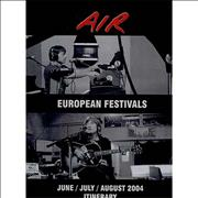 Click here for more info about 'European Festivals - 2004 Tour Itinerary'