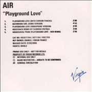 Click here for more info about 'Air (French) - Playground Love'