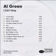 Click here for more info about 'Al Green - I Can't Stop - plain sleeve'