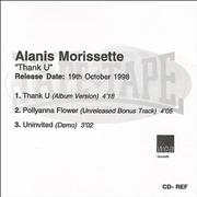 Click here for more info about 'Alanis Morissette - Thank U'
