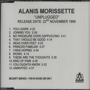 Click here for more info about 'Alanis Morissette - Unplugged'