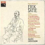 Aldo Ciccolini Piano Music Of Erik Satie - black & white stamp UK vinyl LP